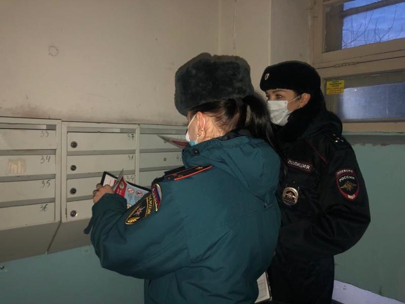 Специалисты МЧС России принимают участие в профилактической операции «Комендантский патруль»