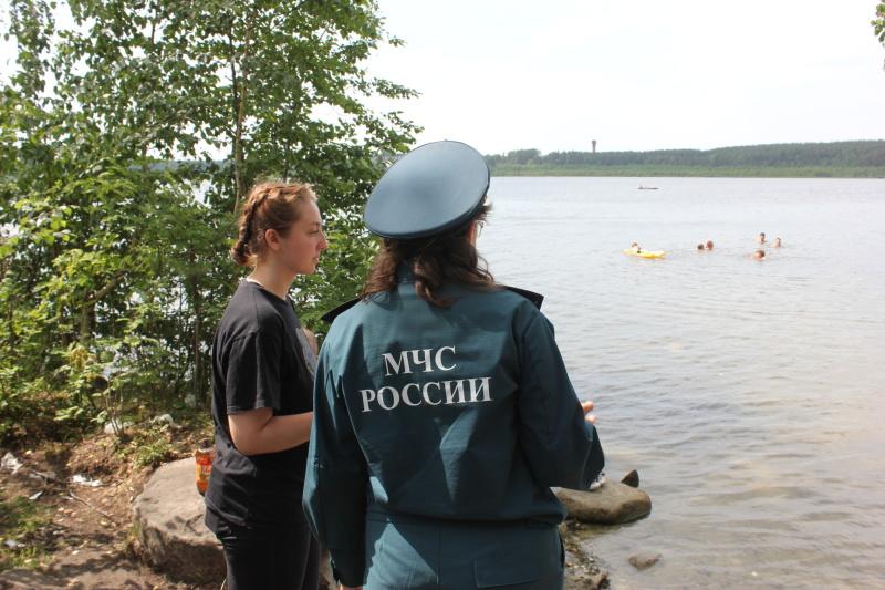 Места массового отдыха свердловчан у водоёмов – на особом контроле сотрудников МЧС России